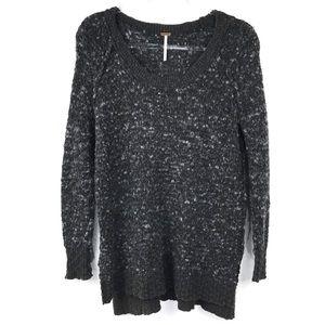 Free People Gray Knit Oversized Sweater XS